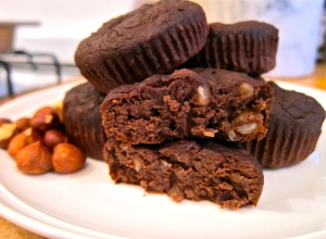 Chocolate Hazelnut Gluten Free Black Bean Brownies