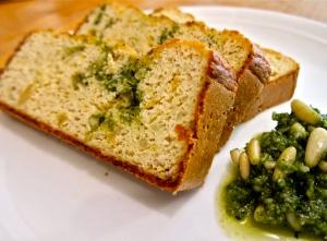 Cauliflower Pesto Bread