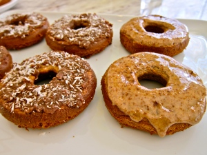 baked gluten free glazed donuts