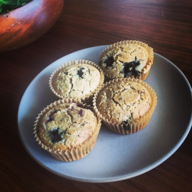 Vegan lemon berry muffins